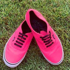 Neon Pink Vans Men's 9, Women's 10.5